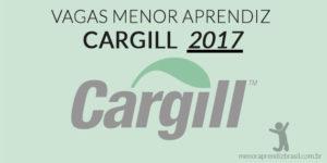 vagas menor aprendiz cargill 2017